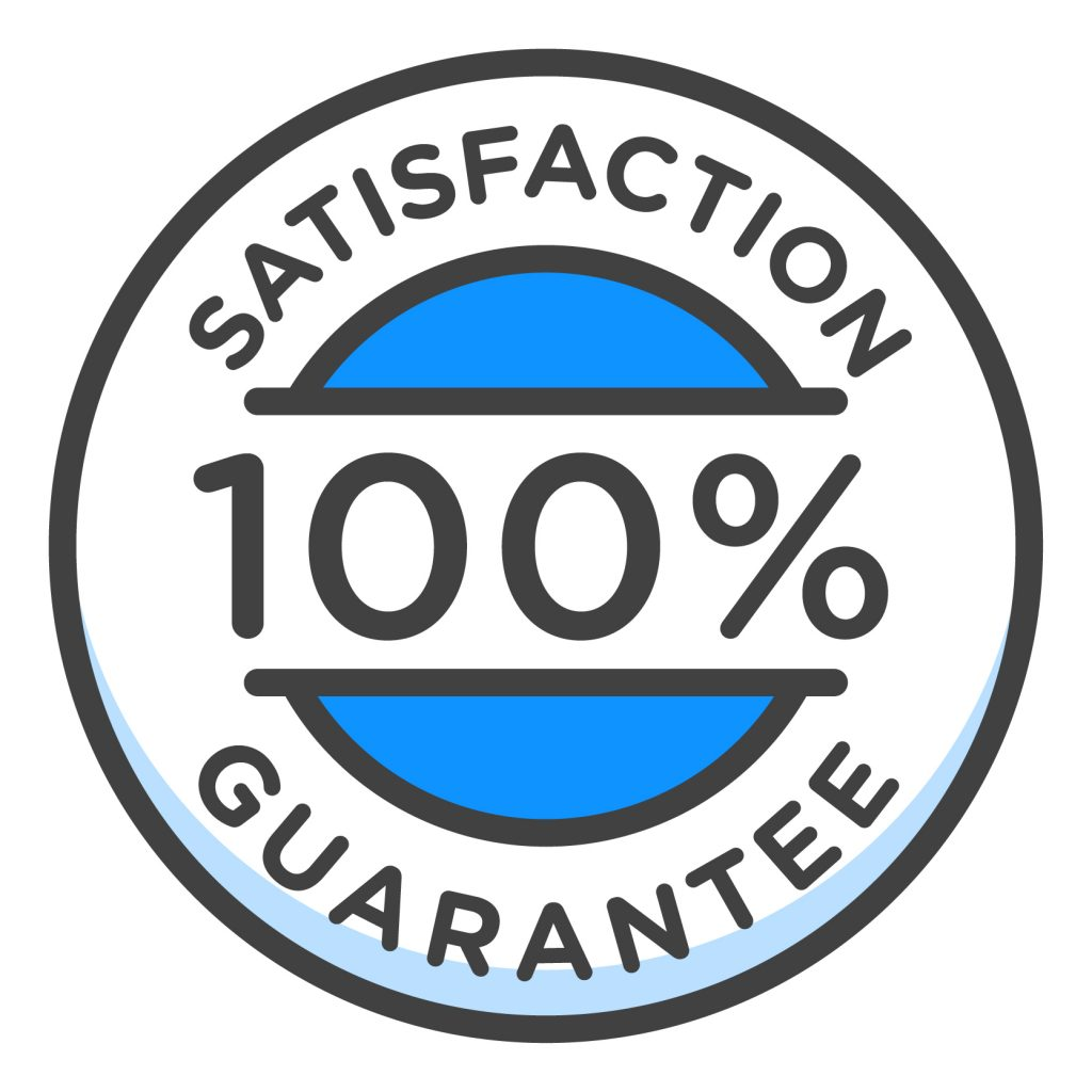 100 percent guarantee badge